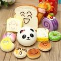 2016 12PCS /lot Random Sent Kawaii Squishies Lots Cupcakes Panda Bun Toasts Multi Donuts Squishiy