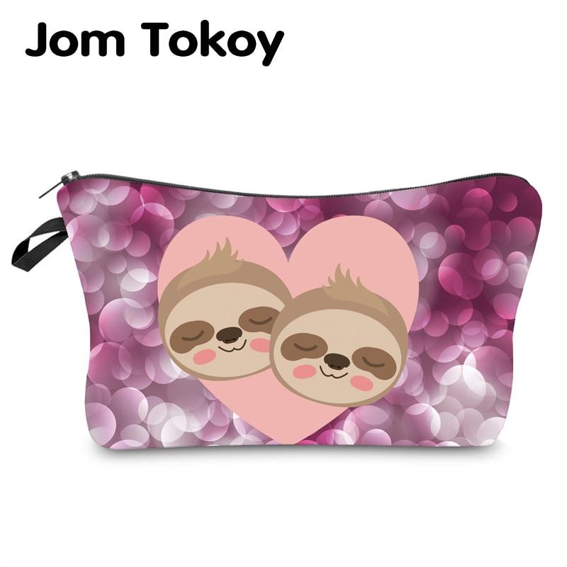 Jom Tokoy Water Resistant Makeup Bag Printing Sloth Cosmetic Bag Lovely Cosmetic Organizer Bag Women Multifunction Beauty Bag954
