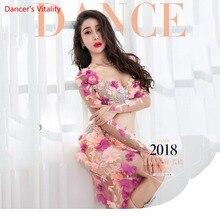 Professionnel sur mesure danse du ventre Performance Service femmes 2018 nouveau Sexy mode costume de luxe soutien gorge + Sexy jupe longue 2 pièces