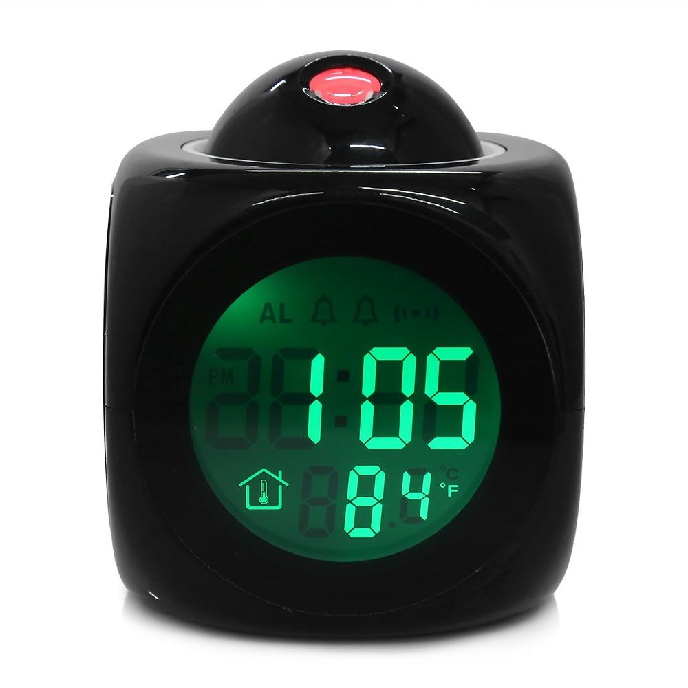 Original Wecker Vibe LCD Reden Projektions-wecker-zeit Zeit & Temp Display Reveil Projektion Uhren Despertadores Uhren
