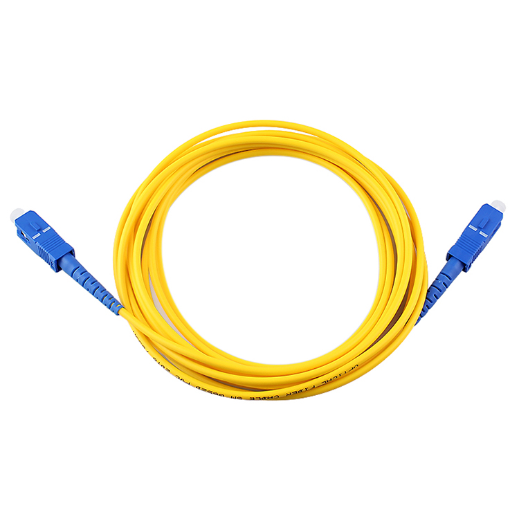 SC To SC Fiber Optic Jumper UPC Singlemode 9/125um Simplex 3 5 10 15 20 M Ftth Customization Fiber Patch Cord