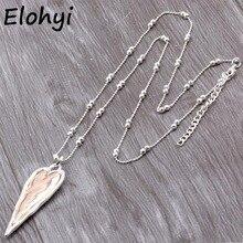 ELOYHI Women Double Color Heart Boho Statment Alloy Pendants