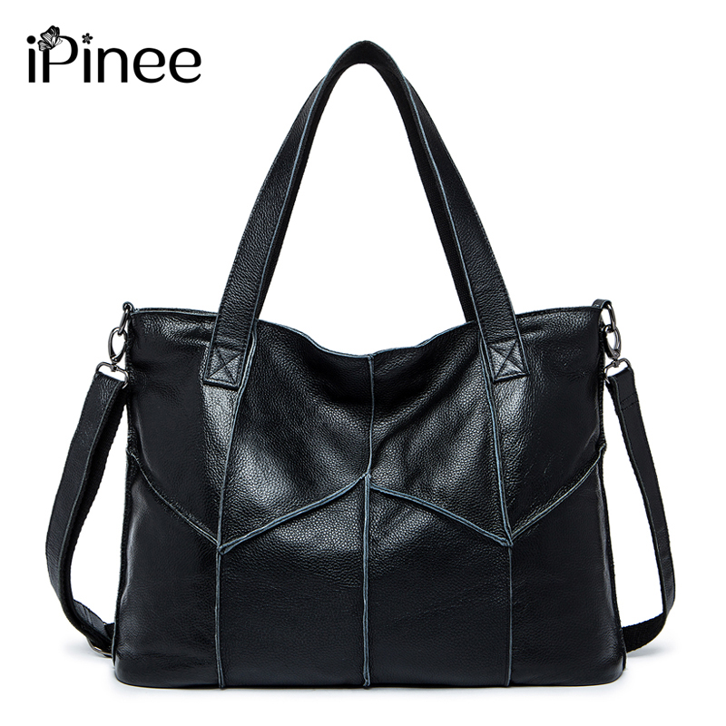 iPinee Women Handbag Genuine Leather Shoulder Bag Female Bags Cowhide portable Shopping Bag Vintage Large Capacity Tote Bags цена