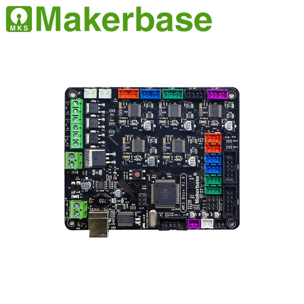 MKS BASE V1.6 carte mère intégrée compatible Mega 2560 & rampes 1.4 carte de contrôle pour RepRap Mendel 3d imprimante pièces de carte mère