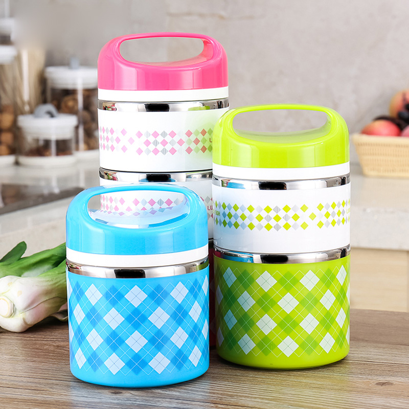 portable stainless steel thermos bento lunch box thermal food container food. Black Bedroom Furniture Sets. Home Design Ideas