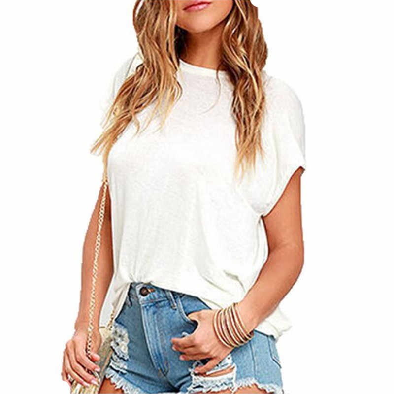 2018 블랙 화이트 티셔츠 코튼 여성 오픈 다시 섹시한 티셔츠 짧은 소매 여름 스타일 여성 의류 Backless o-넥 탑스 티셔츠