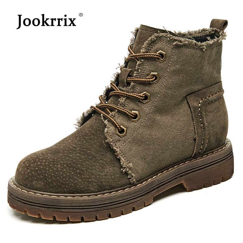 Jookrrix Shoes Women Fashion Martin Boots Real Leather Lady chaussure Autumn Female footware Cross-tied Ankle Boots botas mujer 2018 brand design shoes women mixed color chain cross tied women martin boots zip leather ankle botas femeninas casual shoes