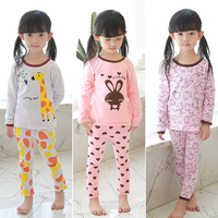 2018 Spring New Girl Clothing Set Baby Pajamas Children Boy Sleepwear Cute Pijamas Set Kids Girl