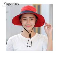 Kagenmo New Style Candy Colors Female Sun Hat Leisure Fashion Women Sunbonnet Cotton Summer Beach Fish