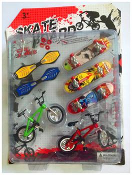 7 sztuk profesjonalne Flick Trix Finger rowery rower Bicicleta podstrunnica fajna zabawka dla chłopców z gadżetem losowy kolor dostawy tanie i dobre opinie 12-15 lat 8-11 lat 5-7 lat None Multicolor Metal 29 x 22 x 5cm