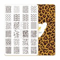 CICI&SISI Nail Art Stamping Plates Stamping Stamp Template Accessories Animal texture 01-04