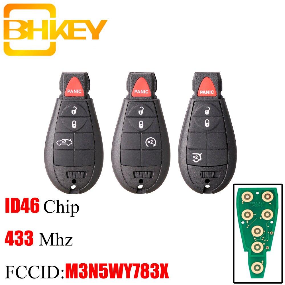 BHKEY Remote-Key-Fob M3N5WY783X Jeep Chrysler Grand-Cherokee 433mhz 4button Smart