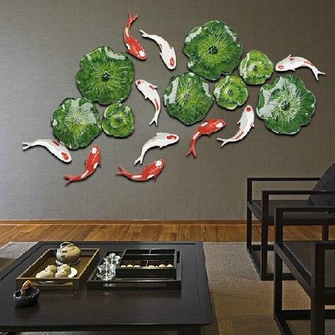 Американская трехмерная имитация зеленого растения Настенные вешалки креативная гостиная дома веранды, коридора украшение из кованого же... - 3
