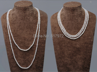 Elegant Wedding Top Real Pearl 9 10mm Bead Natural Highlight Fashion Handmade Necklaces Sweater Chain Women