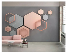 3D wallpaper Hexagonal Mosaic Minimal Geometry