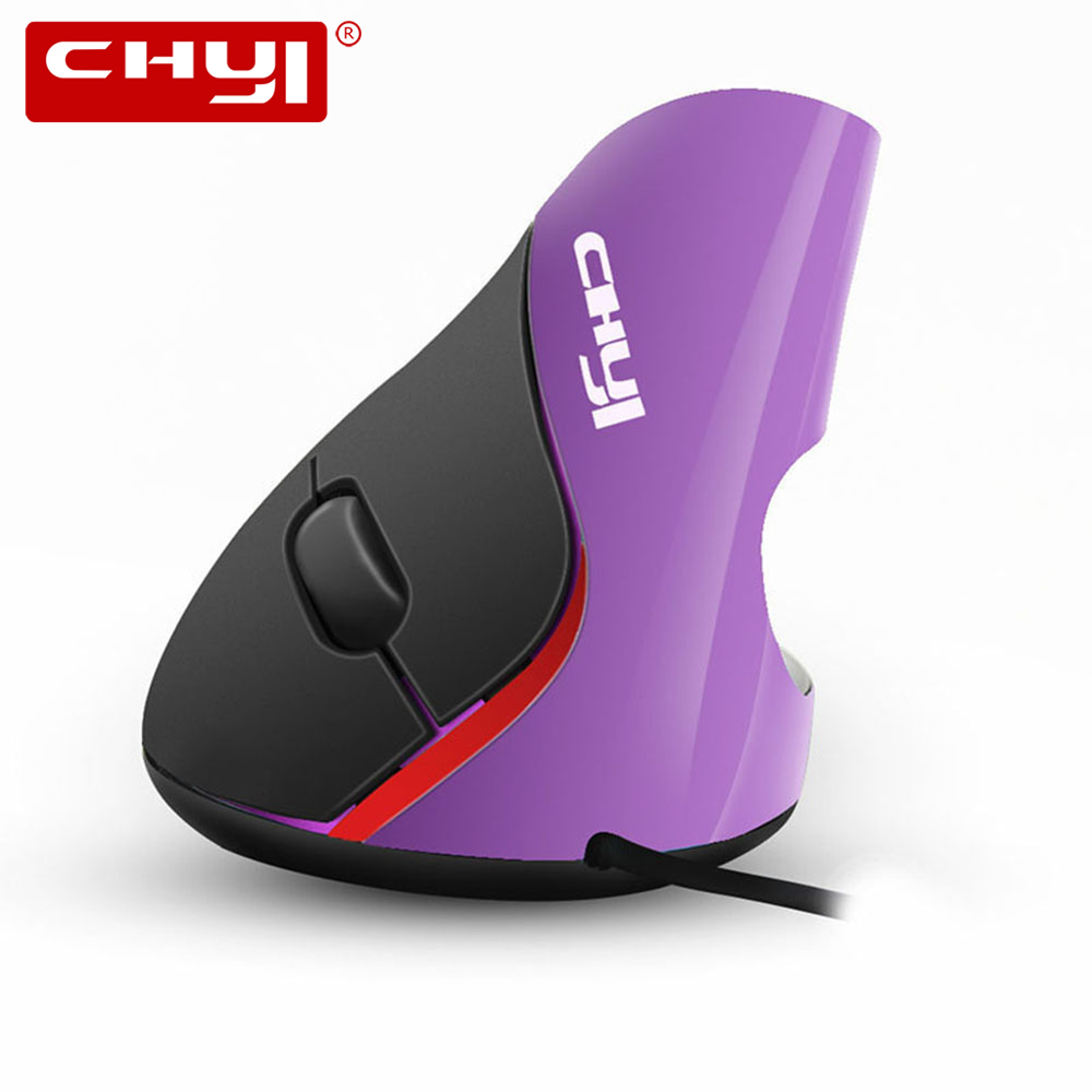 CHYI Wired Mouse Ergonomic 5D 1600 DPI Optical USB Cable Vertical Mice with Wrist Rest Mouse Pad Kit For Gamer PC Laptop Desktop