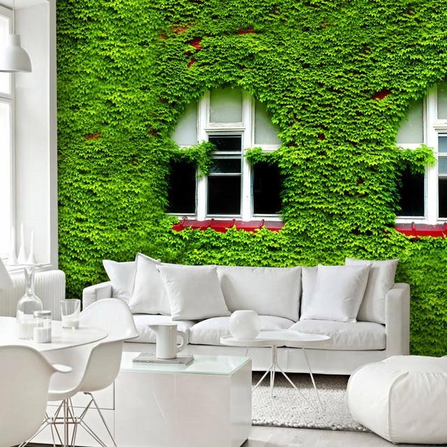 3D wald grüne blätter tapete frisch garten wandbild schlafzimmer ...