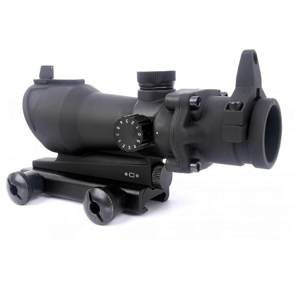 Taktik ACOG 1X32 kırmızı nokta görüşü Optik Tüfek Kapsamları ACOG Red Dot Kapsam Avcılık Kapsamları için 20mm Ray airsoft Silah