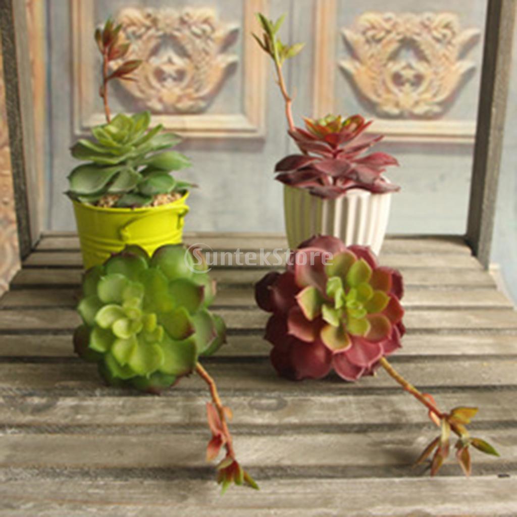 Artificial Lotus Flower Succulent Grass Desert Plant Arrangement 2 Colors  Choice(China) Part 74