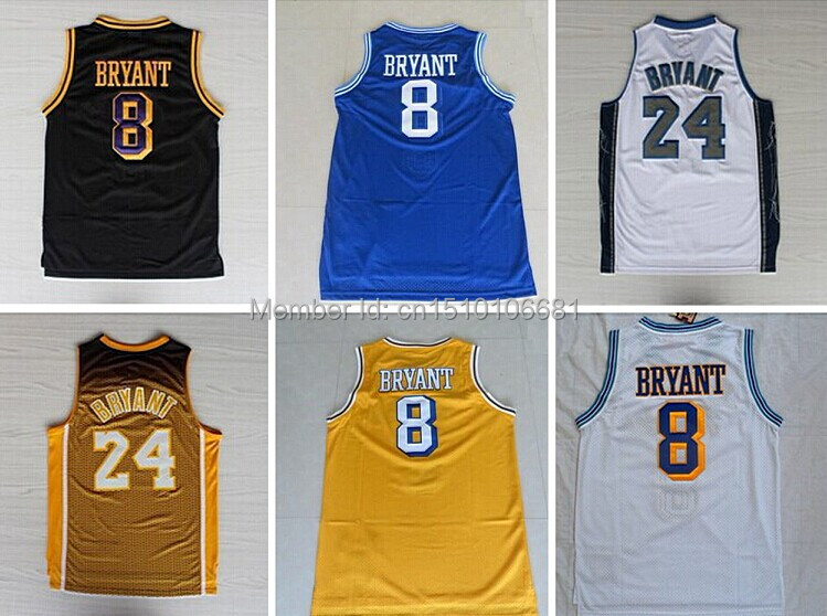 d9ea1284c Free shipping 8 Kobe 24 Kobe Bryant Jersey throwback 33 Bryant High School  ...