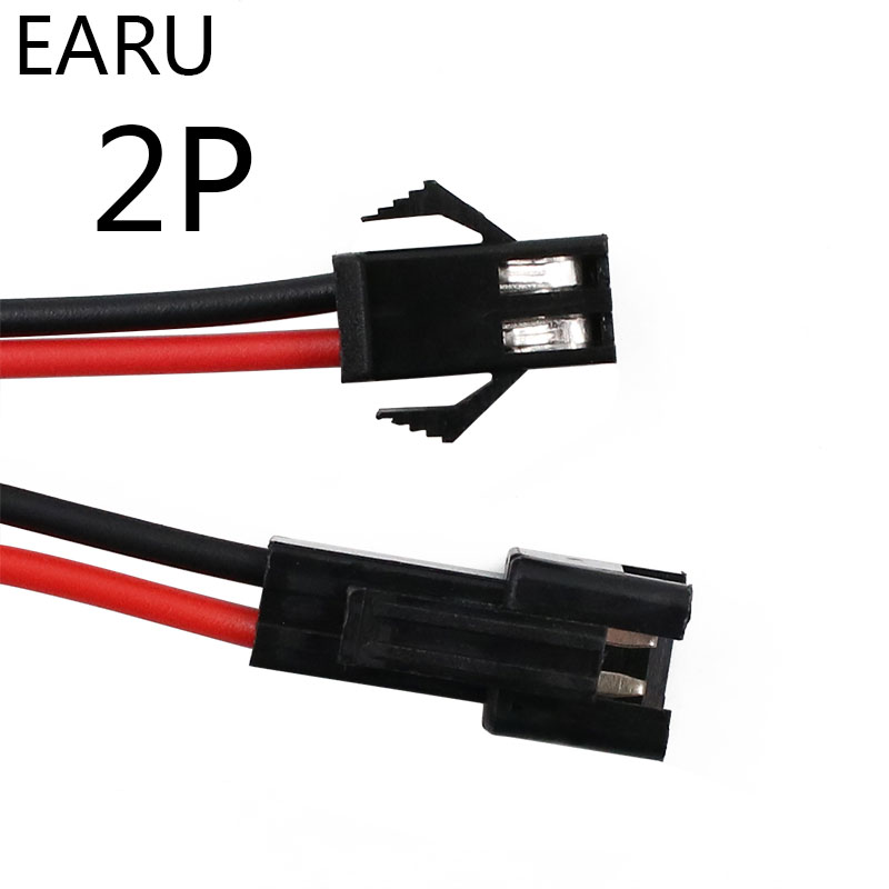 10Pairs 15cm JST SM 2P 2Pin Plug Socket Male To Female Wire Connector LED Strips Lamp Driver Connectors Quick Adapter