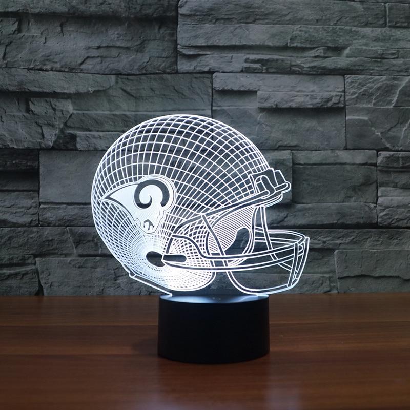 St. Louis Rams rugby Cap casco   LED ilumina la luz muebles regalo