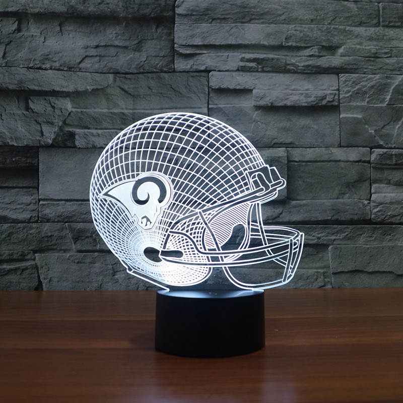 St. Louis Rams rugby cap helmet led illuminate light furniture gift