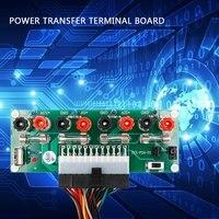Elektrische Schaltung 24 Bank Atx Pins Computer Netzteil Pin Breakout Board Modul Dc Stecker Stecker Mit Usb 5 V port|Terminals|   -