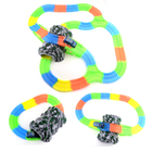 Glowing Magic Plastic Track With LED Light Up Magic Electronics Car Toy Glow Race Track Set Toys For Children Boy Birthday Gift