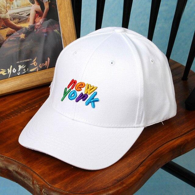 2016 Краткое описание Пользовательских Бейсболки и Шляпы для Женщин Мужчин 6 панель Хип-Хоп Крышка Корея Вышивка Цвет Письмо Моды бейсболка