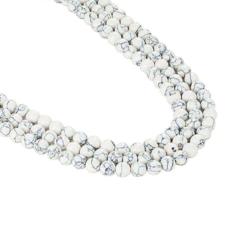 Ливви 5A натуральный белый свободные шарики diy браслет jewelry аксессуары материалы Свободные бисера полуфабрикатов