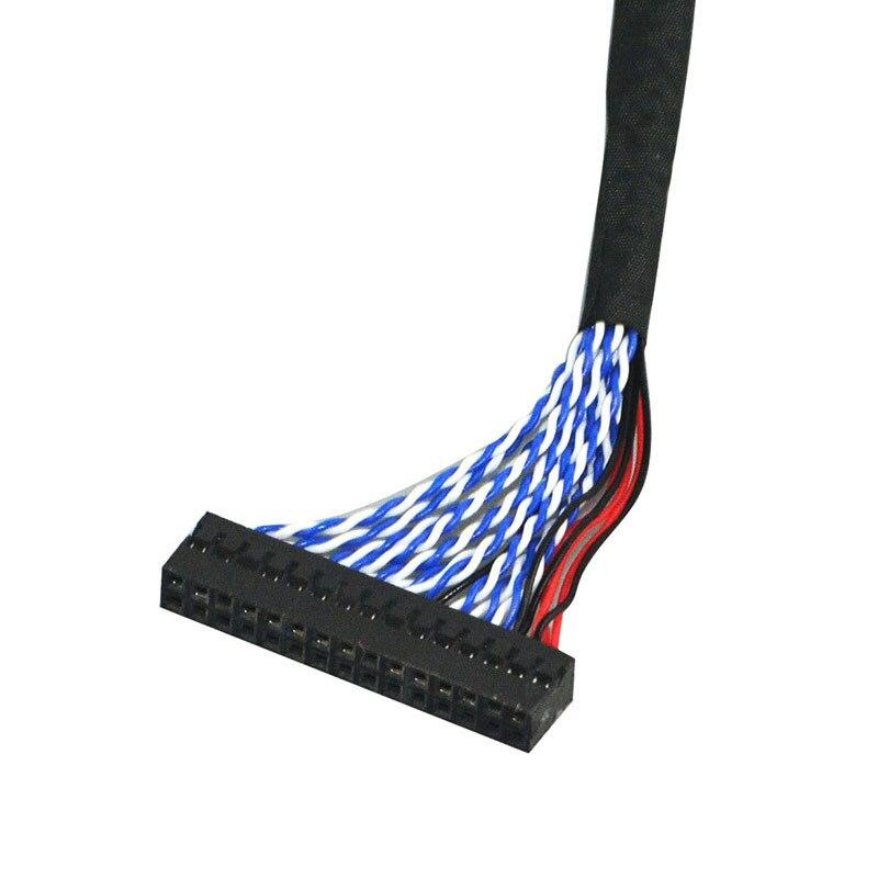 LVDS кабель FIX-30Pin 2ch 8 бит 17 дюймов~ 21 дюймов ЖК-панель 8 бит 26 см 260 мм для DIY платы контроллера