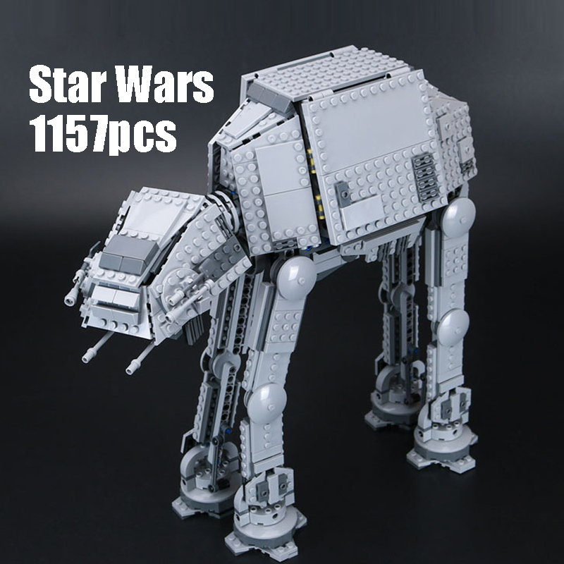WAZ Compatible Legoe 75054 Star Wars Lepin 05051 building blocks The AT-AT Transpotation Armored Robot Figure toys for children hot new compatible legoinglys star wars series motorized walking at at model robot building blocks toys for children gift