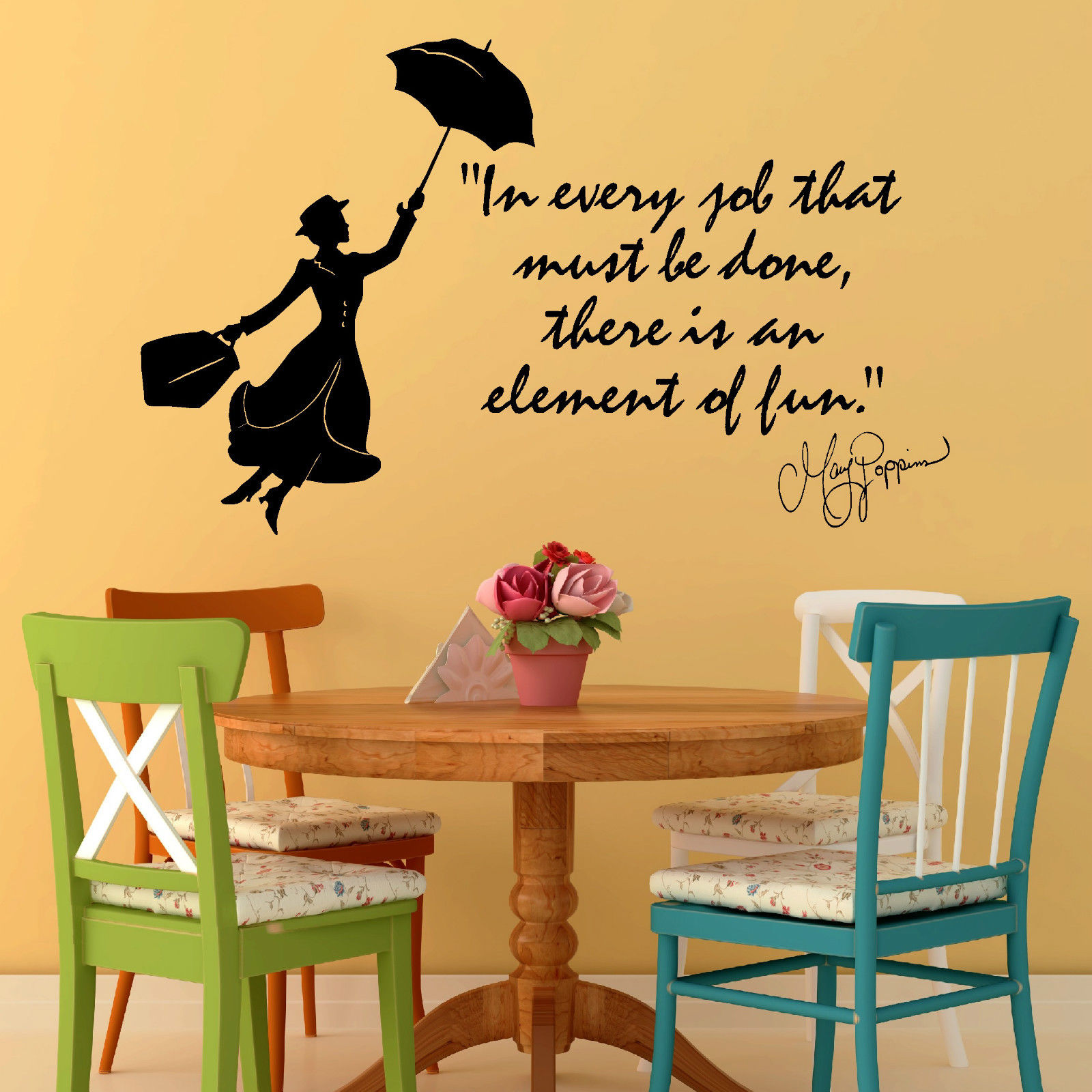Bedroom wall art quotes - G143 Mary Poppins Julie Andrews In Every Job That Vinyl Wall Art Quote Decal Sticker Girl Bedroom Wall Stickers Art