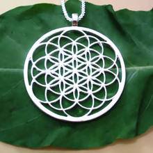 Flower of life pendant Silver/Gold plated necklaces & pendants  With 60 cm box chain for women