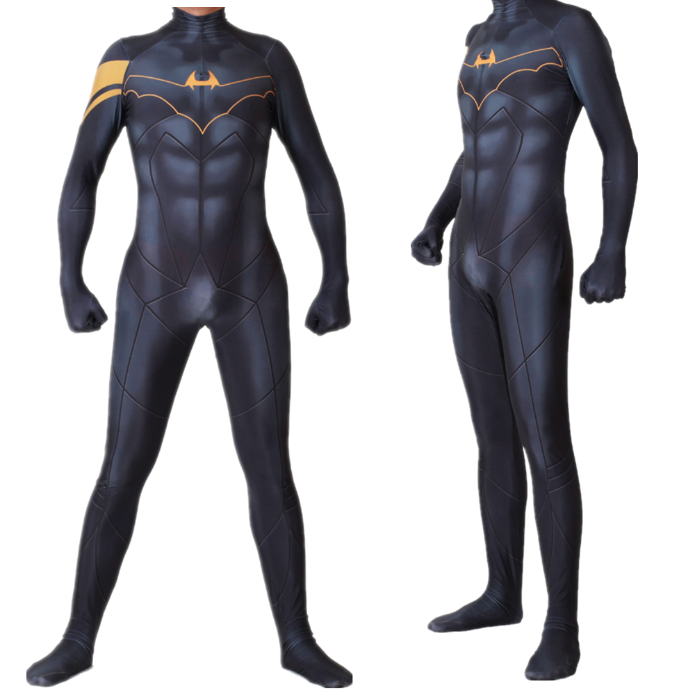 Superhero Movie Batman Cosplay Costume Bruce Wayne Zentai Bodysuit Suit Jumpsuits
