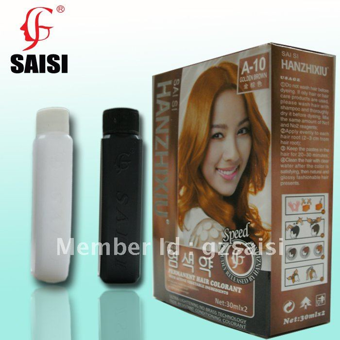 Gloden Brown 30mlx2 Permanent Hair Color Creamwith Vegetable