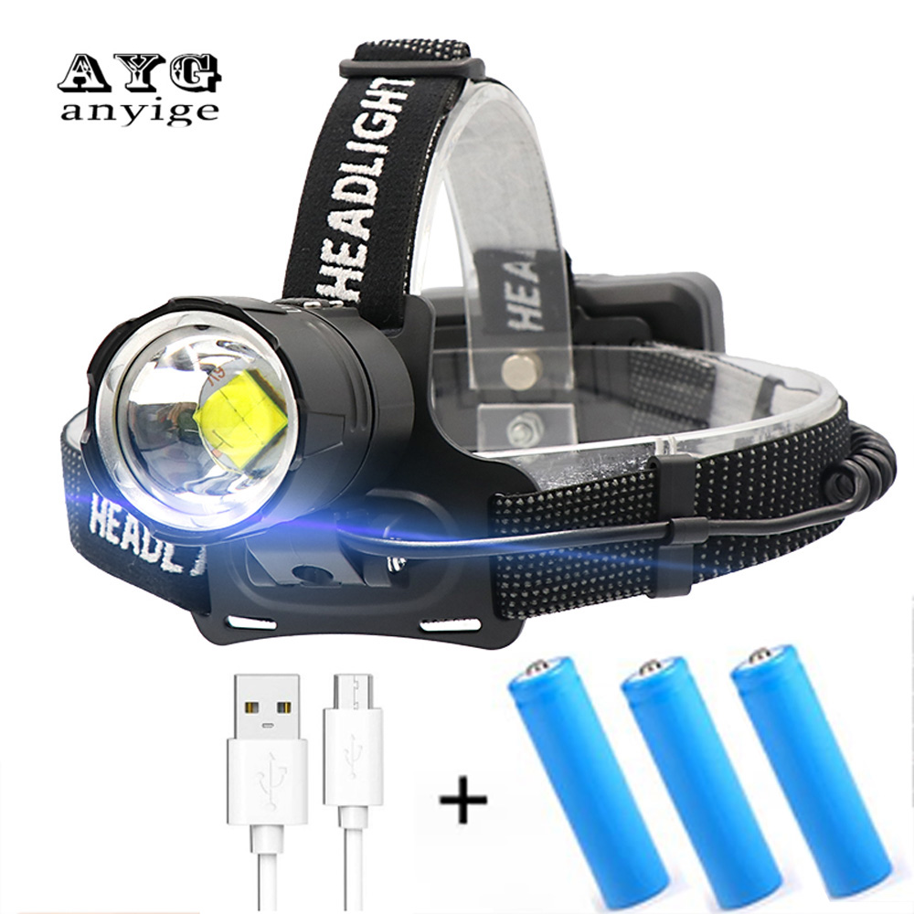 Powerful XHP70 LED Headlamp USB Headlight Support zoom 3 switch modes Powered by 18650 battery Power Bank for hunting fishingPowerful XHP70 LED Headlamp USB Headlight Support zoom 3 switch modes Powered by 18650 battery Power Bank for hunting fishing