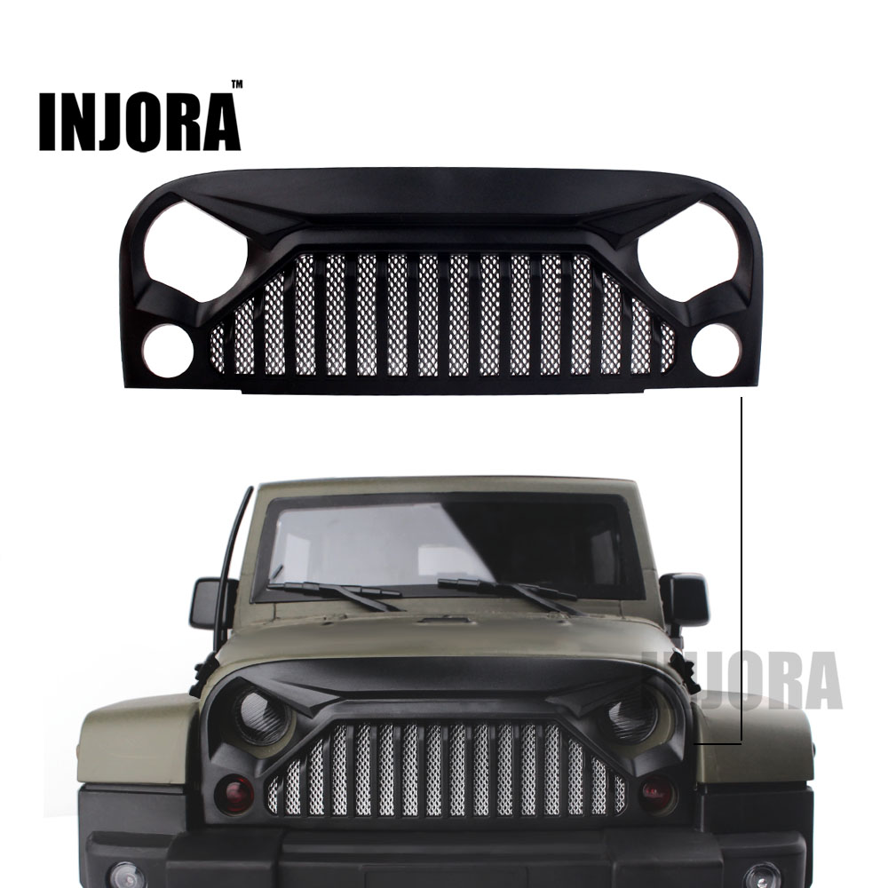 RC Car Air Inlet Grille Front Face with Metal Mesh for 1/10 RC Rock Crawler Axial SCX10 90046 RC4WD D90 Body Shell body jeep jk 1 10 red 1 10 rc crawler rc car hard top d90 body shell of jeep wrangle scx10 d90 90020 90021 90018