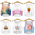 21 Design Summer Female T Shirt  Cute Rich Food Friends Printing T-shirt  Casual Tee Tops For Women Simple Crop Top