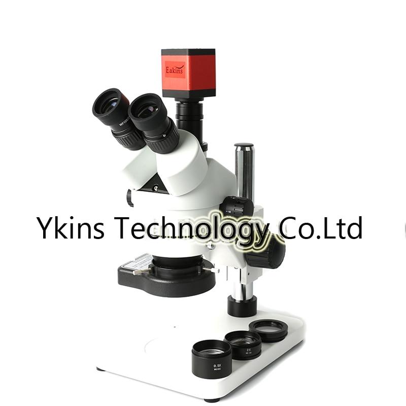 Simul-focal 3.5X-90X trinoculaire stéréo microscope + 13MP HDMI VGA industrielle caméra + réglable support en métal + 144 LED anneau