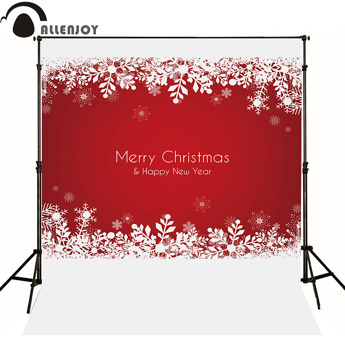 Allenjoy photography backdrops merry christmas new year winter red xmas snowflake newborn baby shower snow background photocall