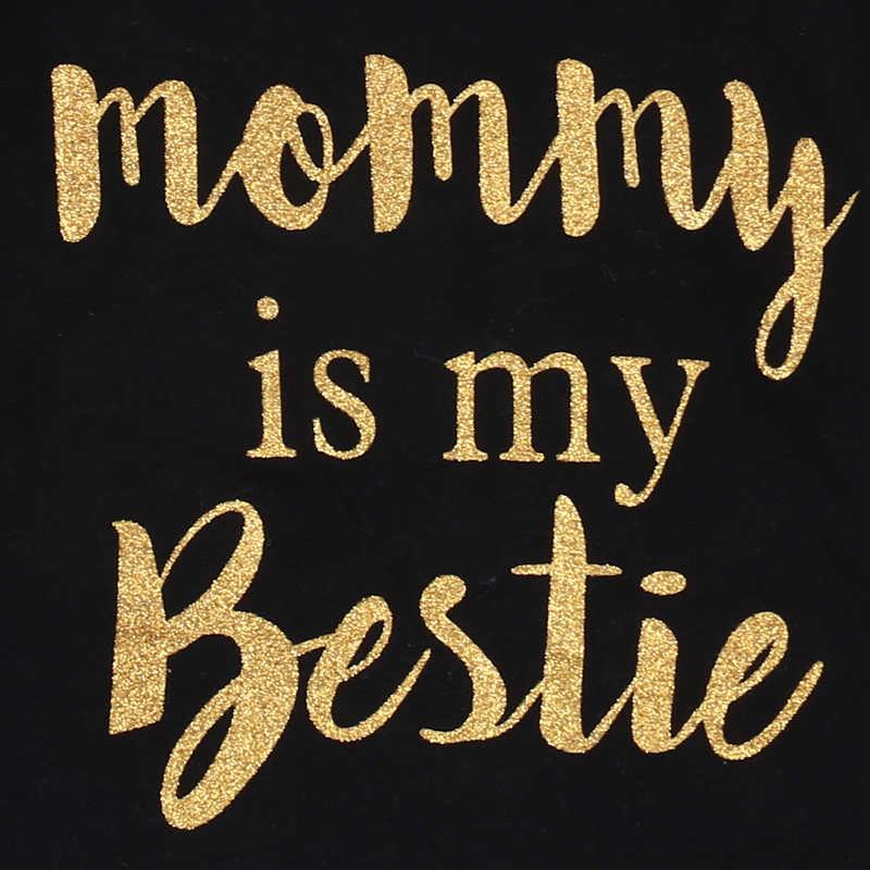2018 Brand New Newborn Casual Toddler Baby Girl Boys Cotton Long Sleeve Black Bodysuit Headband 2PCS Jumpsuit Mommy is My Bestie