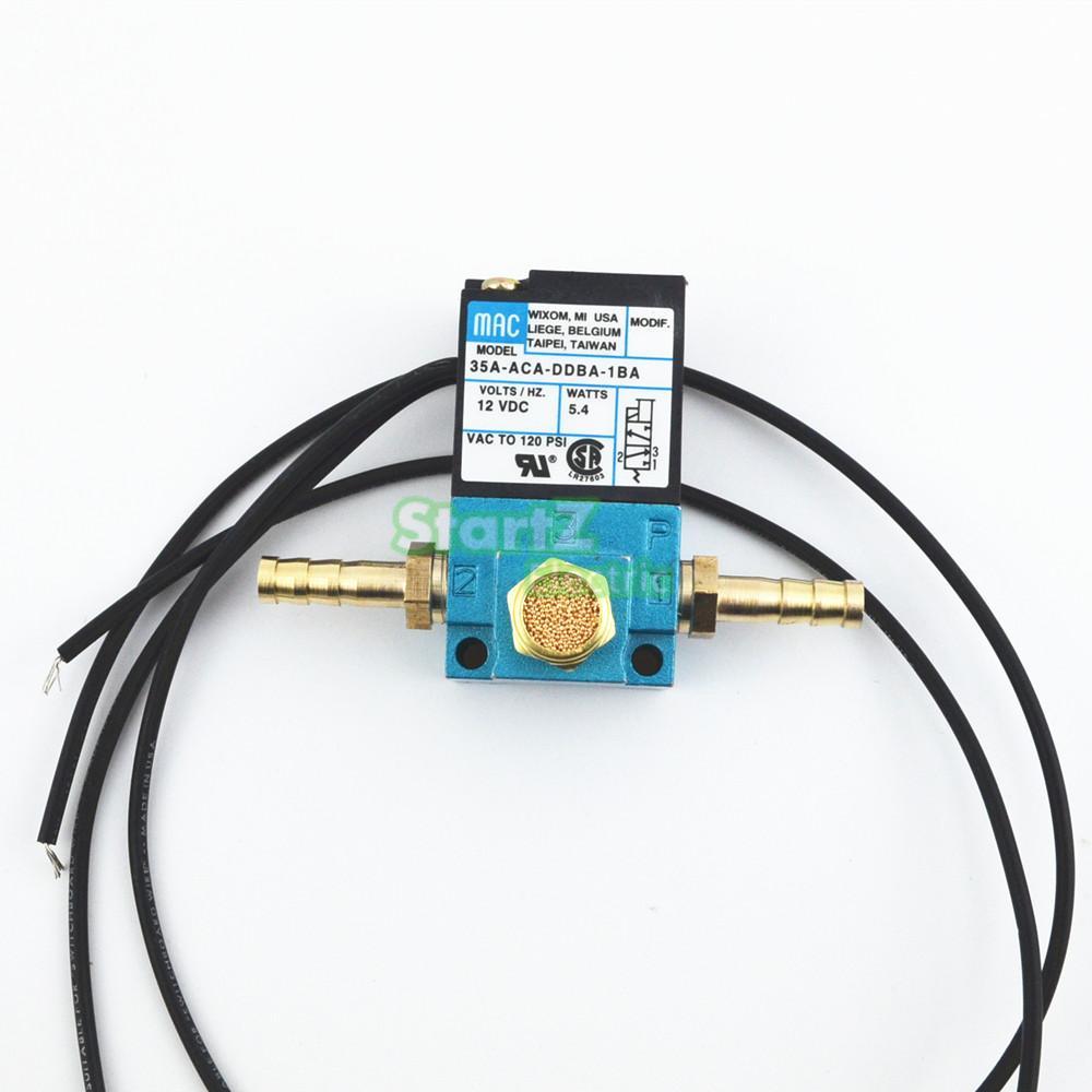 MAC 3 Porta 35A-ACA-DDBA-1BA Com Silenciador De Bronze Válvula Solenóide de Controle do Impulso Eletrônico