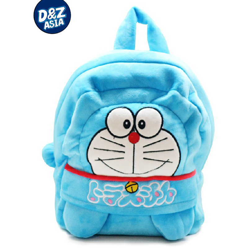 Blue little cat plush bag cartoon baby boys and girls kids backpack child korean plush t ...