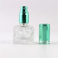 XYZ Stylish 8ml Unique mini glass perfume bottle Sprayable refillable perfume bottle atomizer