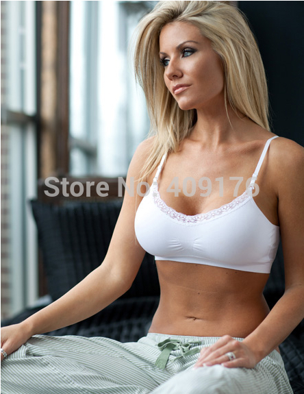soft comfortable fitness Women brassiere invisible bra lace casual Bras Crop Tops removable Pads young girl bras - Green Knitting Co., Ltd store