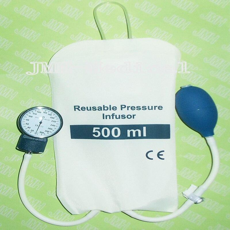 500 ml der dual rohr infusionsbeutel, mit druckanzeige und 3 wege ...
