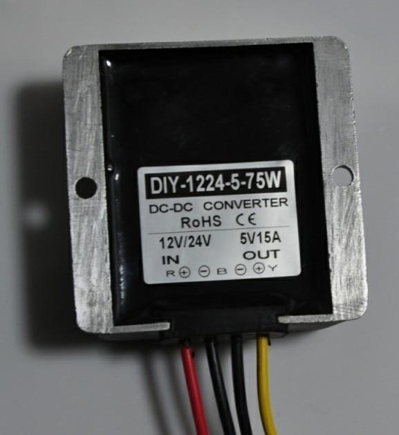 цена на 12V24V(8.5V-40V) To 5V 15A 75W DC DC Step Down Converter Buck Module Car Power Supply Adapter Voltage Regulator Waterproof