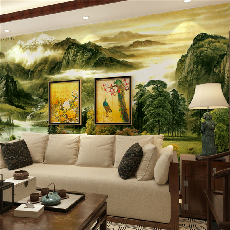Online kopen wholesale landschap behang muurschilderingen uit china landschap behang - Deco muurschildering ...